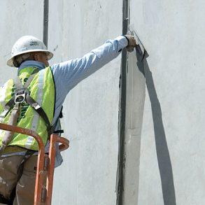 A Worker Applying Wunderfixx - Concrete Delivery -Antoun